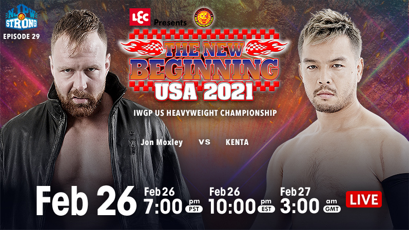 The match a whole year in the making, Jon Moxley vs KENTA finally. #njpw https://t.co/wk3ZDlFyLS