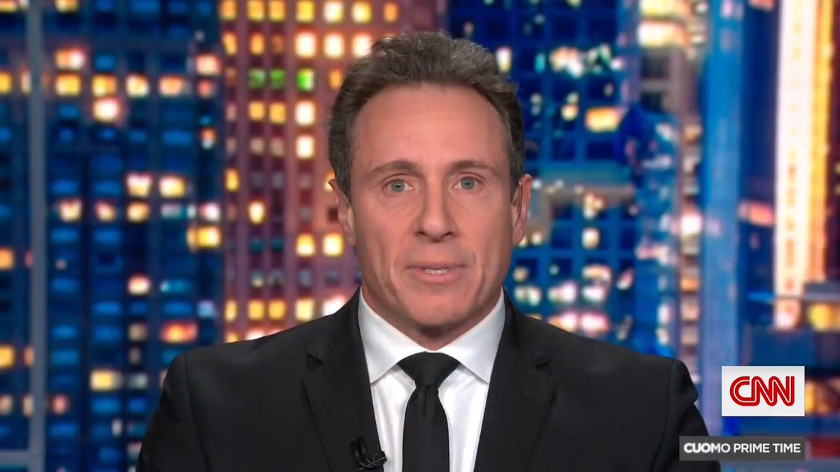 """""""There really is more light ahead of us now than darkness,"""" says @ChrisCuomo.  """"There will be tough times. We're not out of this. But there is cause for hope."""""""