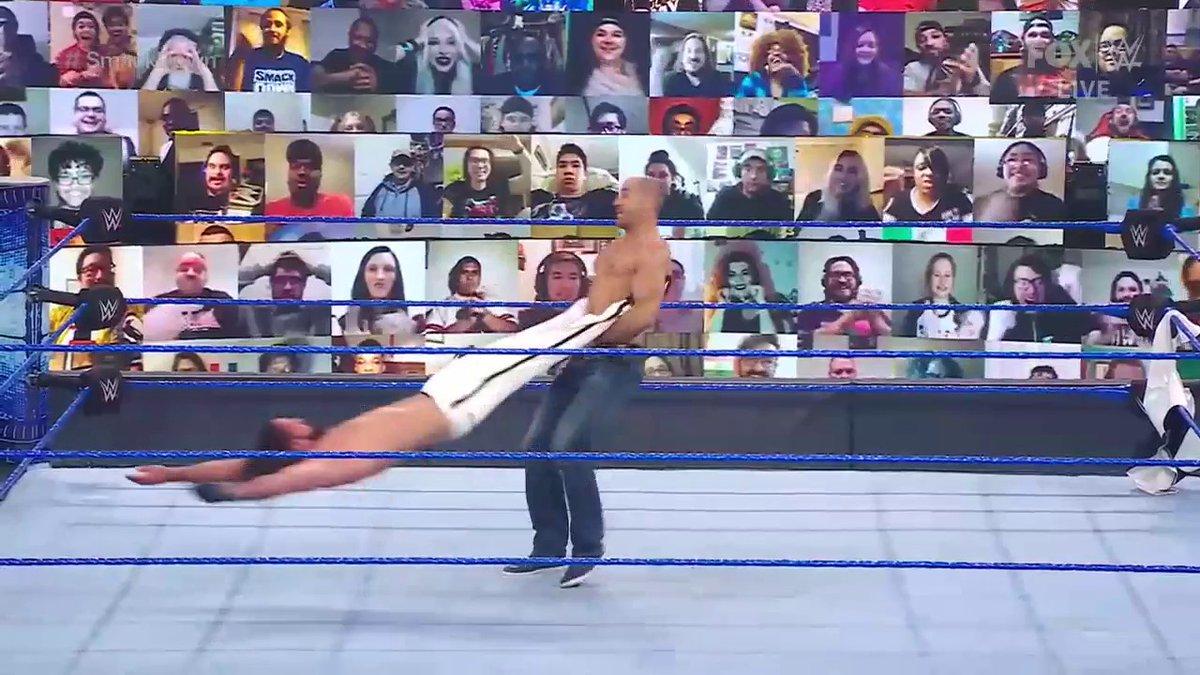 I'd puke, for real.   #SmackDown