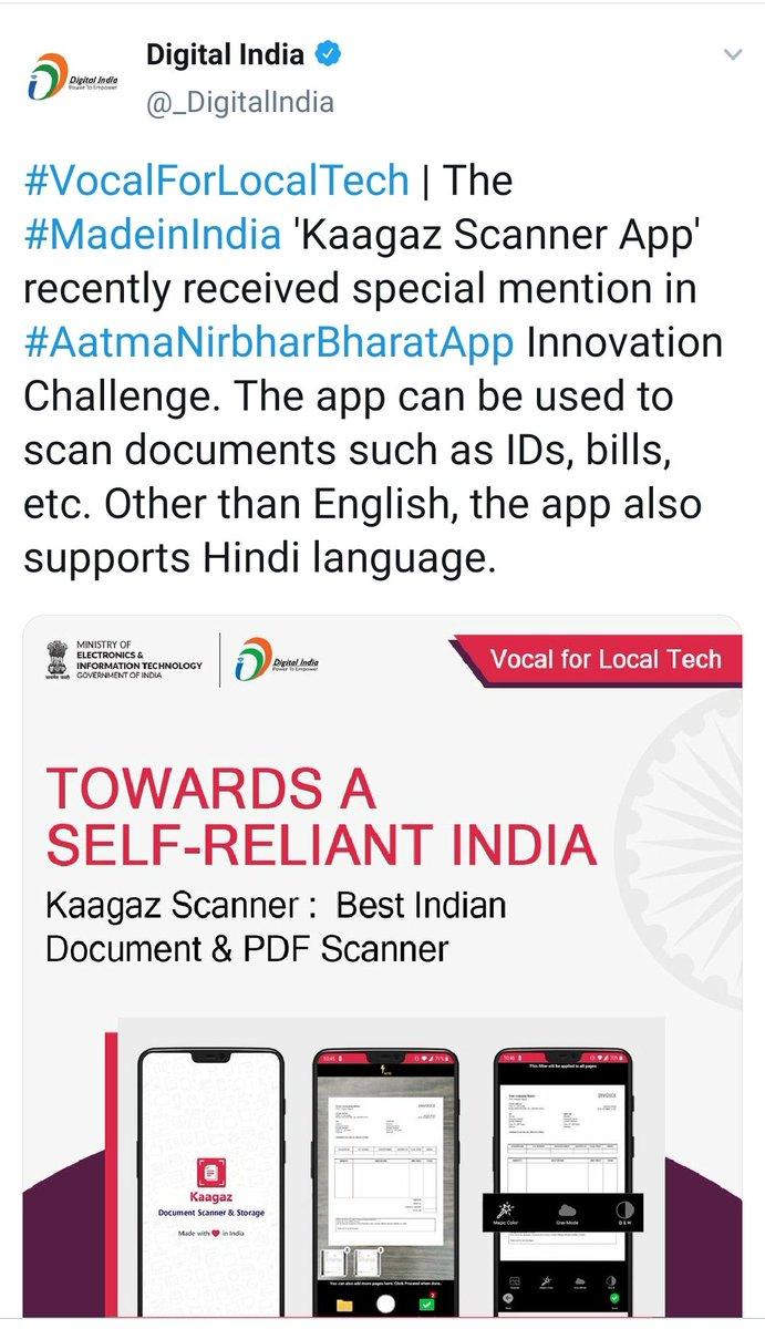 @KaagazS @EduMinOfIndia @_DigitalIndia #AatmanirbharBharat #VocalForLocal #kaagaz Download kaagaz scanner - app for documents scanning  and app storage  No sign in !  no ads ! no watermark ! Completely free !  Download Kaagaz Scanner  👇👇👇👇