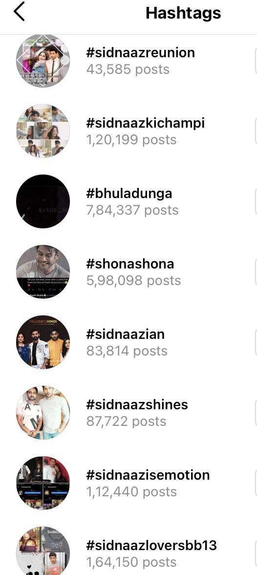 It's just FYI Insta tags: Aim is 5M on SidNaaz ❤️ #sidnaaz 2493838(2.4M) #sidnaaz❤️ 410835 #sidnaz 145746 #sidnaazian 83814 #sidnaazians 1002310(1M) #sidnaazlovers 1001713(1M) #sidnaazforever 724351 #happyvalentinesdaysidnaaz 374001 #sidnaazmoments 376748 #sidnaazmoment 300544