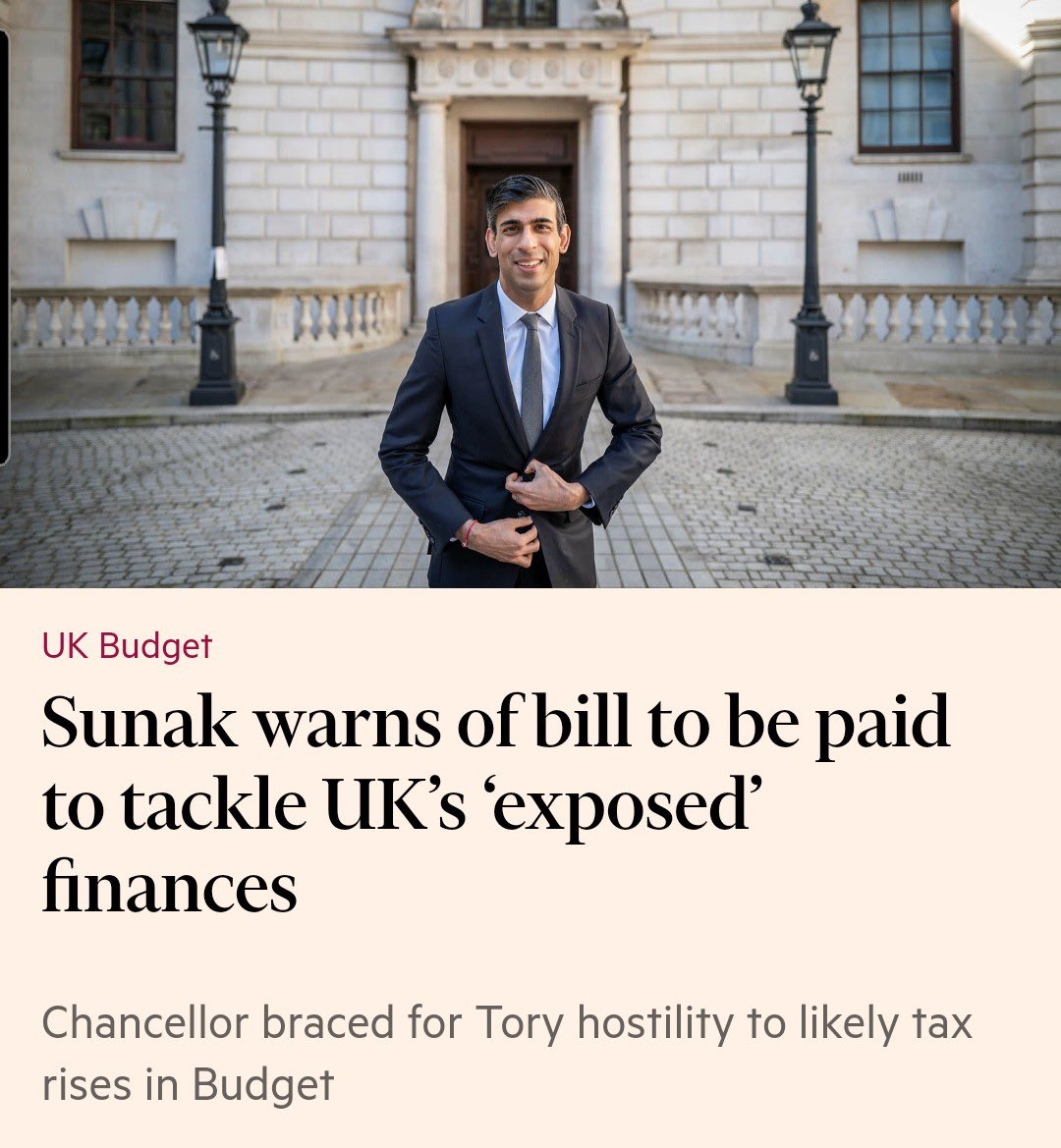Rishi Sunak says UK taxpayers will need to pay more taxes  Why are 1 in 5 UK companies allowed to avoid taxes by using off shore tax structures?  Instead of more austerity, tax avoiding companies should pay their fair share https://t.co/dIfRIA5QkJ