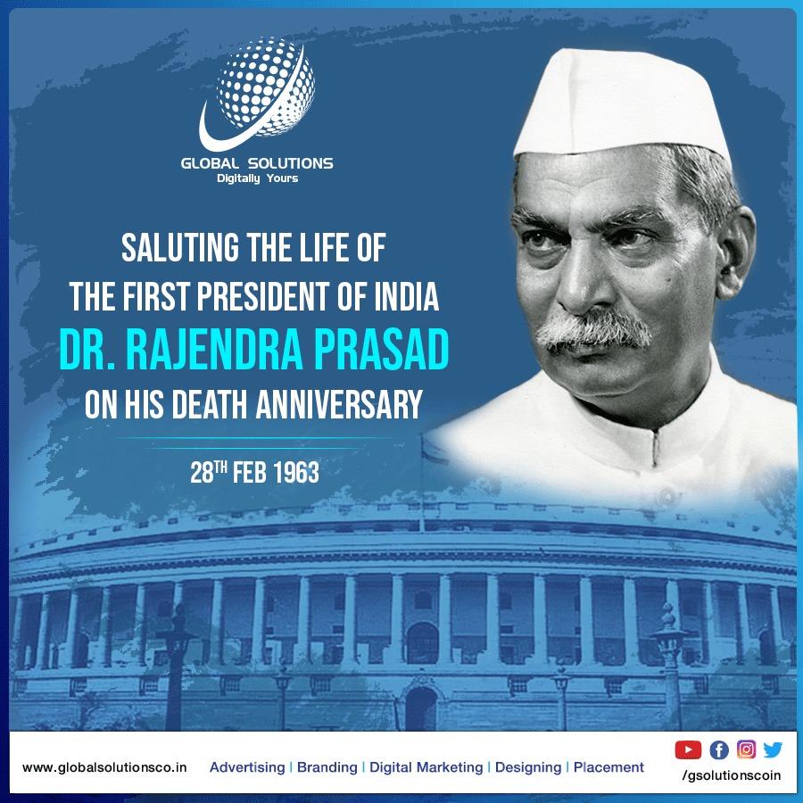 भारत के प्रथम राष्ट्रपति श्री राजेन्द्र प्रसाद जी की पुण्यतिथि पर उनको श्रद्धा सुमन अर्पण।। जय हिंद #BharatRatna #FreedomFighter #1StPresidentofRepublicIndia #BabuRajendraPrasad #DrRajendraPrasad #DeathAnniversary. #प्रथमराष्ट्रपति #RajendraPrasad #PresidentofIndia #president