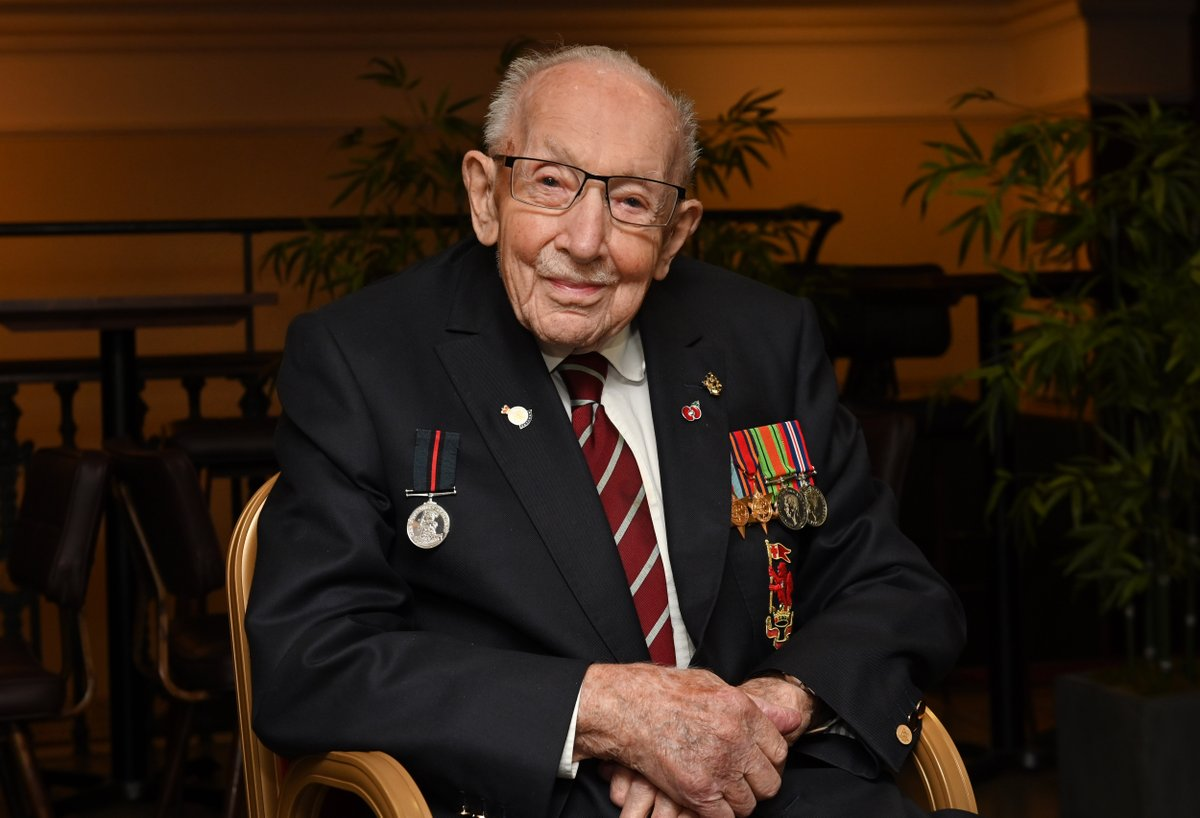 Today we join the rest of the nation in saying goodbye to the much loved @captaintommoore. He epitomised the spirit of our wartime generation and inspired millions, bringing us together in the most challenging of times. Leave your tribute for him here ➡️