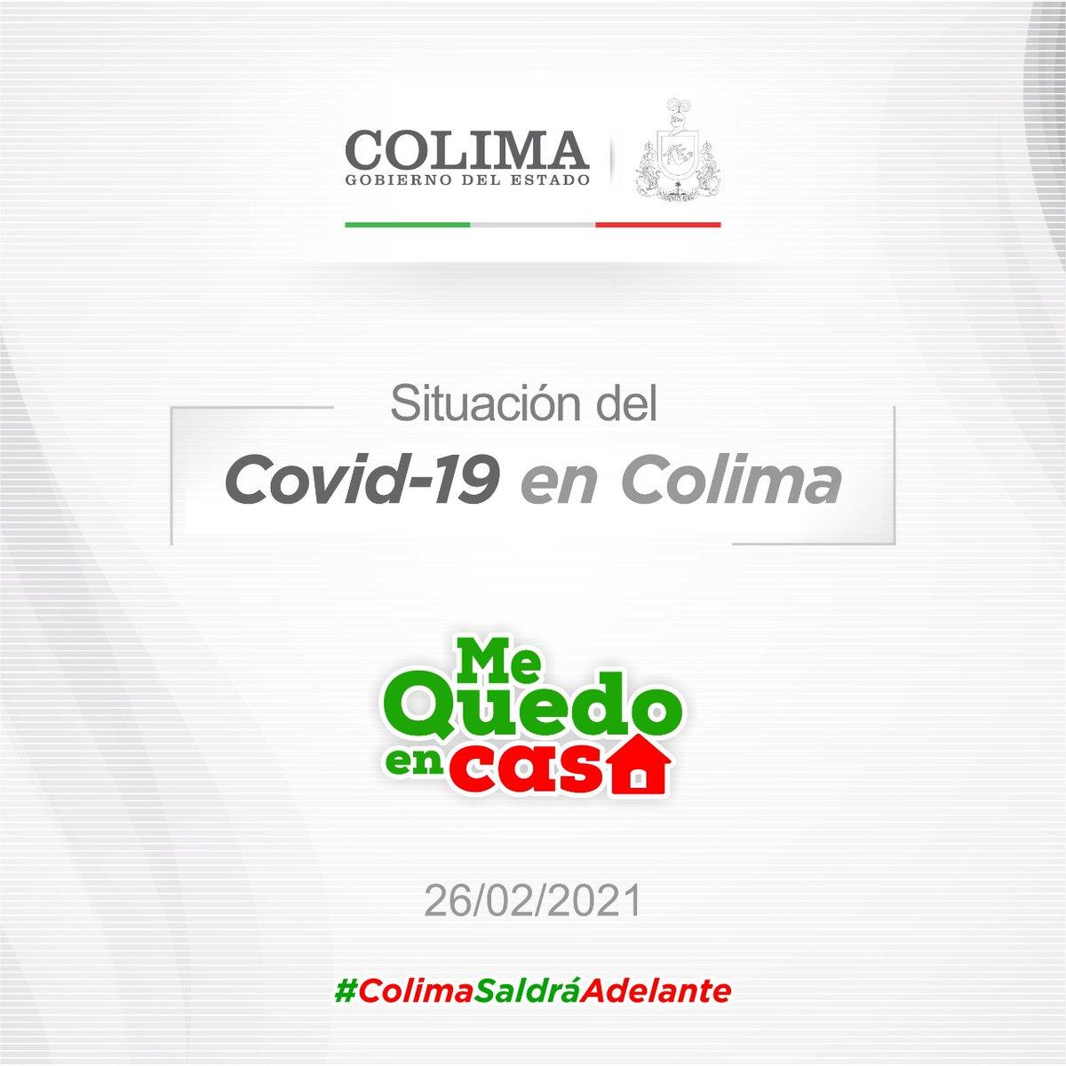Reporte #COVID19COLIMA Hoy 26 de febrero de 2021, se registraron 26 nuevos casos y 3 defunciones por Covid-19, acumulando un total de 9 mil 905 casos confirmados y 1,137 decesos.  Consulta más información aquí 👉