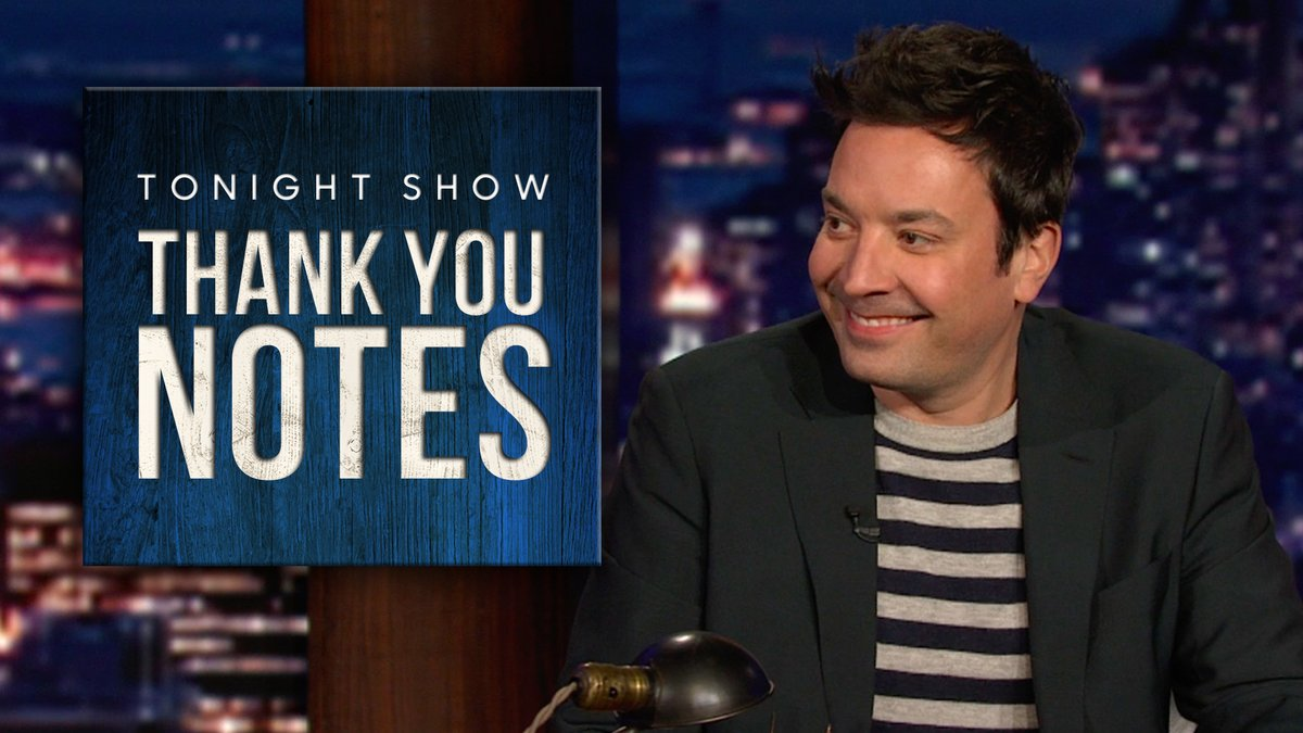 Jimmy writes Thank You Notes to the #GoldenGlobes, @billieeilish's new documentary, and more ✍️ #FallonTonight