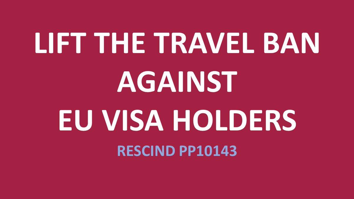 @POTUS @CDCgov @CDCDirector @WHCOVIDResponse @PressSec @VP @SecBlinken @SecretaryLevine @TravelGov @EU_Commission @HHSGov  #LoveIsNotTourism #VisaHolders #liftthetravelban #Travel #LetUsReunite #LetUsBackToUS #NoBan #PP10143