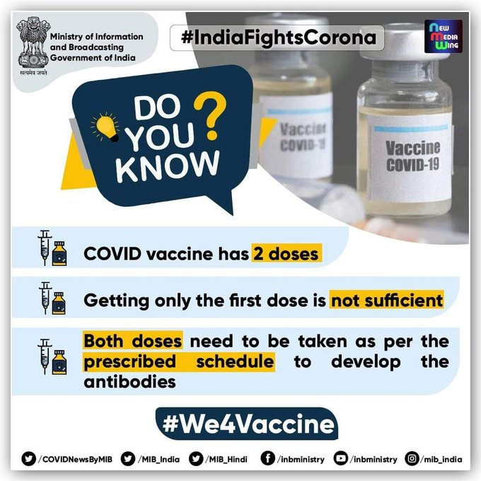 Doctors, Nurses and other Health workers received the 2nd dose of #COVID19Vaccine and requesting people to come forward for #largestVaccinationdrive without any fear. #JanAndolan Follow pandemic appropriate behaviour #IndiaFightsCorona