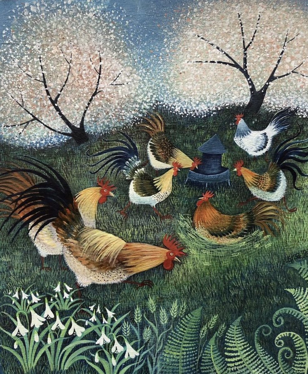 """Orchard Hens"" https://t.co/pPfW3ESKTy"
