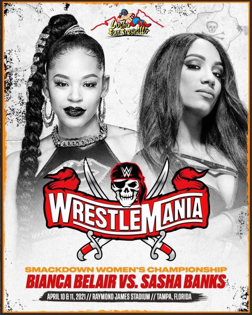 Ha tomado una decisión @BiancaBelairWWE y enfrentará a @SashaBanksWWE por el Campeonato Femenino de #SmackDown en #WrestleMania, ¿Y tu, a quién le vas? 💥😱  #LuchaFanFllo Wwe