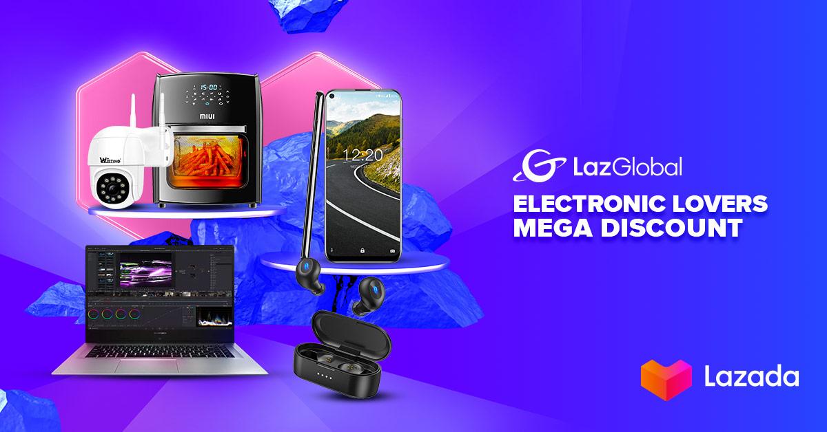Para pecinta elektronik, pasti ngga pengen kelewatan nih, karena lagi ada diskon hingga 90% + ekstra voucher diskon hingga 20% di Lazada Electronic Lovers Mega Discount! Cek disini:   #YakinDariHati #Lazada33Sale #LazadaID