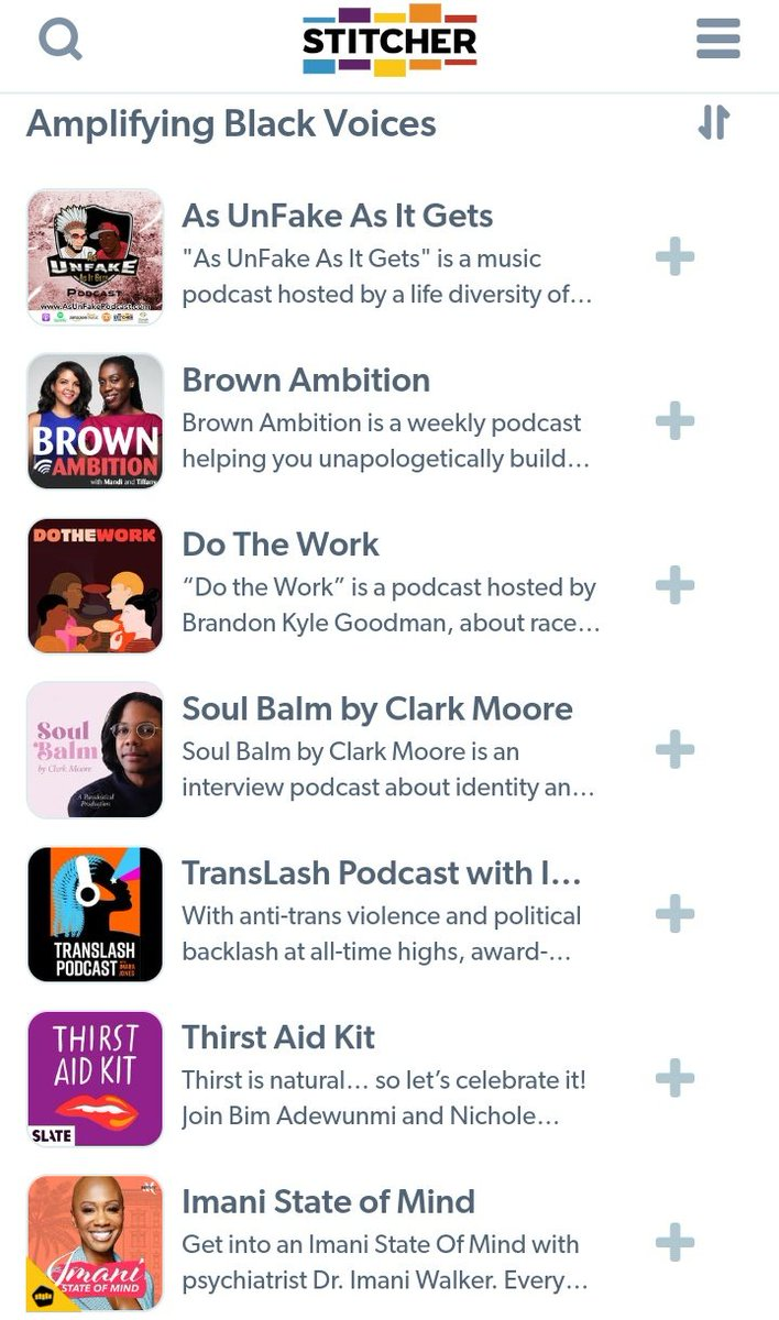 "Shout out to @Stitcher for featuring ""As UnFake As It Gets"" (@AsUnfakePodcast) in the ""Amp Black Voices"" category!  @cthagod @Power1051 @angelayee @djenvy @djEFN @JaeHavana @JoeBudden @PodMedia2 @blackpodcastapp @podcasts_top @nicolebyer #BlackLivesMatter"