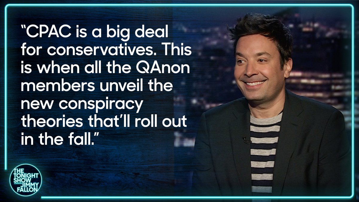 The 2021 Conservative Political Action Conference is officially underway...  #FallonMono #FallonTonight