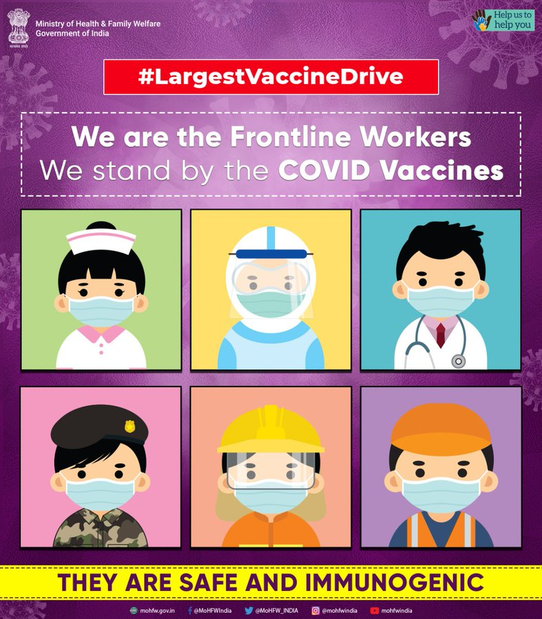 #largestVaccinationdrive Commencement of next phase of India's nationwide #Covid19 vaccination drive from March 1st.  #IndiaFightsCorona Follow pandemic appropriate behaviour #JanAndolan