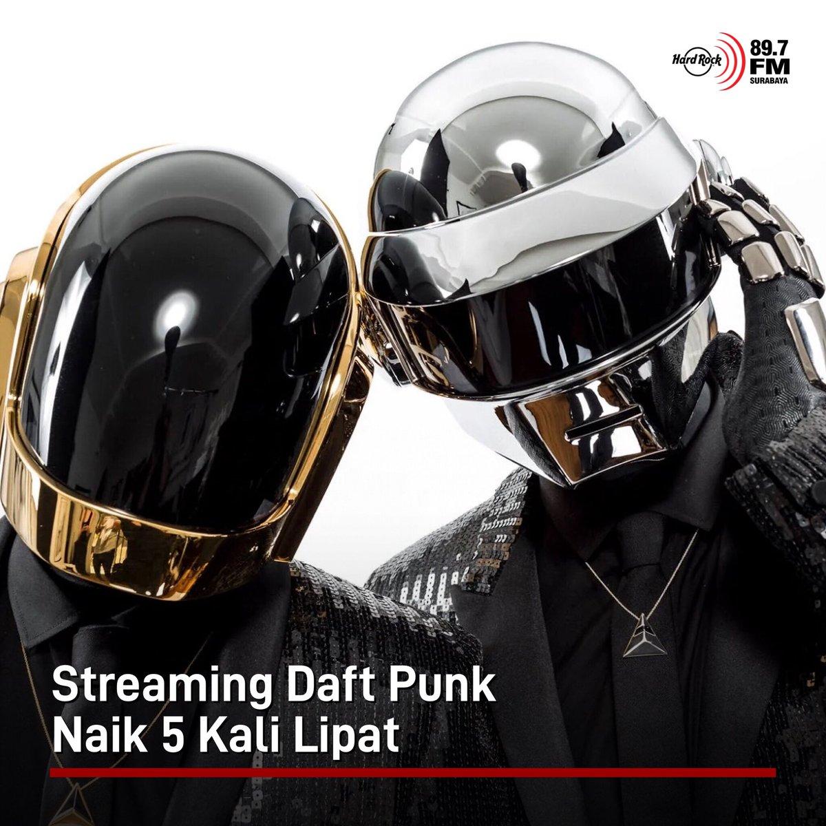 #HRFMNews Setelah mengumumkan bubar, streaming lagu Daft Punk naik 5 kali lipat.  Menurut data dari Alpha Data, streaming-nya mencapai angka lebih dari 5.025 juta dibanding sebelumnya 854.100. Lagu yang paling banyak diputar adalah Get Lucky, sementara albumnya adalah Discovery.