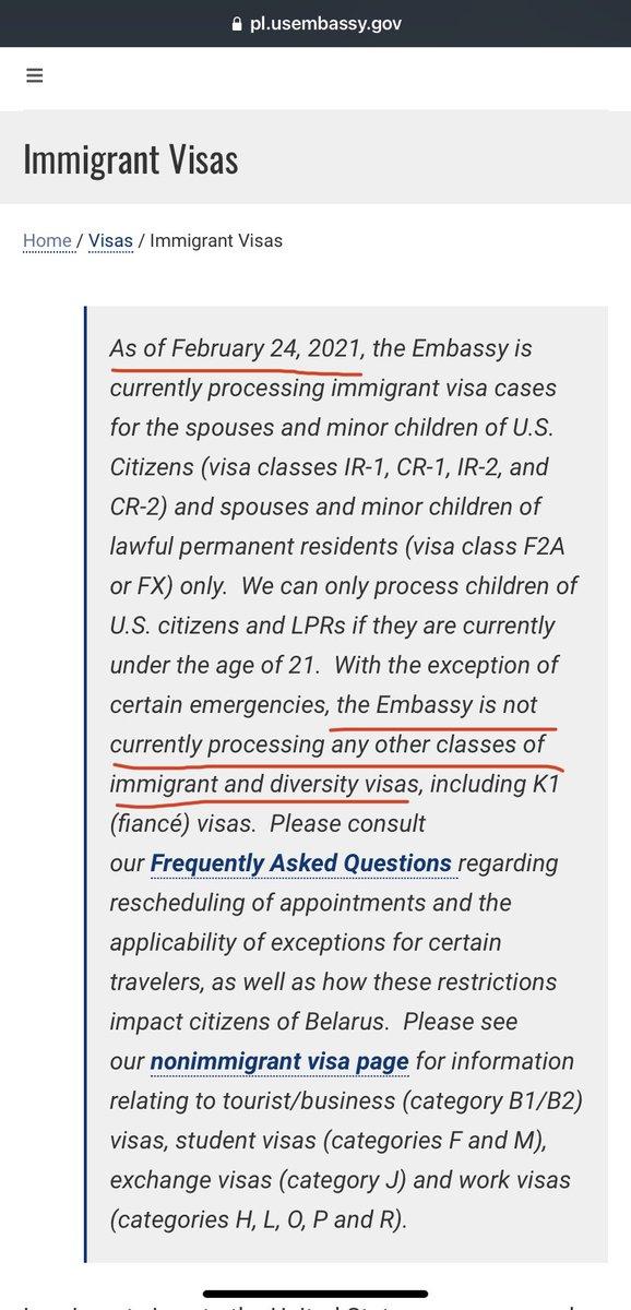 Polish Embassy doesn't want to interview DV2021 lottery due to Schengen ban proclamation 10143   @curtisatlaw @rafaesq @BritSimonSays     #DV2021 #noban  #PP10143  #JacobvBiden