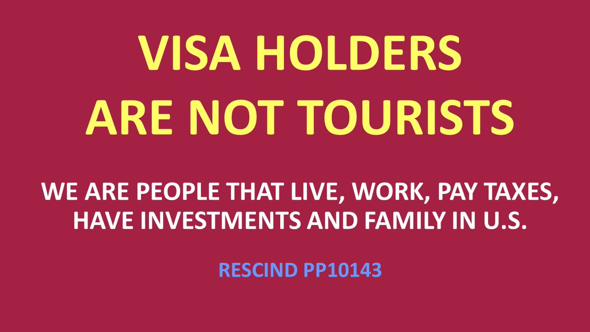 @POTUS @CDCgov @CDCDirector @WHCOVIDResponse @PressSec @VP @SecBlinken @SecretaryLevine @VP  @EU_Commission @HHSGov @TocRadio @politico @Rkrahenbuhl @CNN @NBCNews @nytimes  #LoveIsNotTourism #VisaHolders #liftthetravelban #Travel #LetUsReunite #LetUsBackToUS #NoBan #PP10143