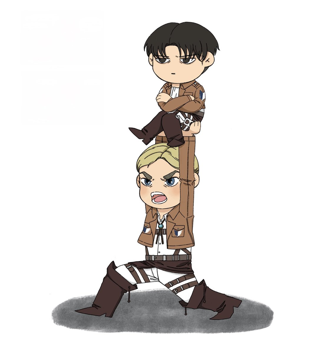 Replying to @salmonqueenn: idk just Erwin Smith showing off his proud tineh bf
