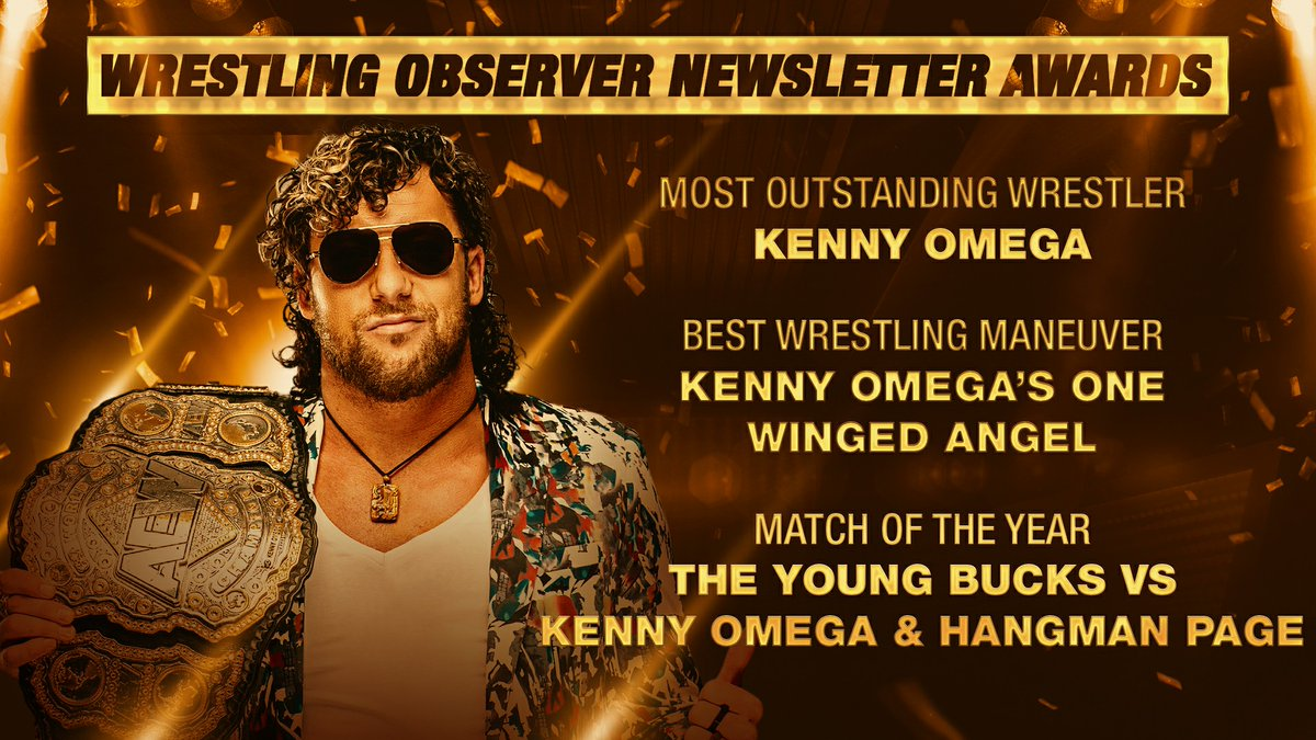 .@KennyOmegamanX (2018 & 2020) joins Ric Flair (1986 & 1989) as the only two people to ever win both the @WONF4W Awards for Most Outstanding Wrestler + Match of The Year in the same calendar year two separate times.