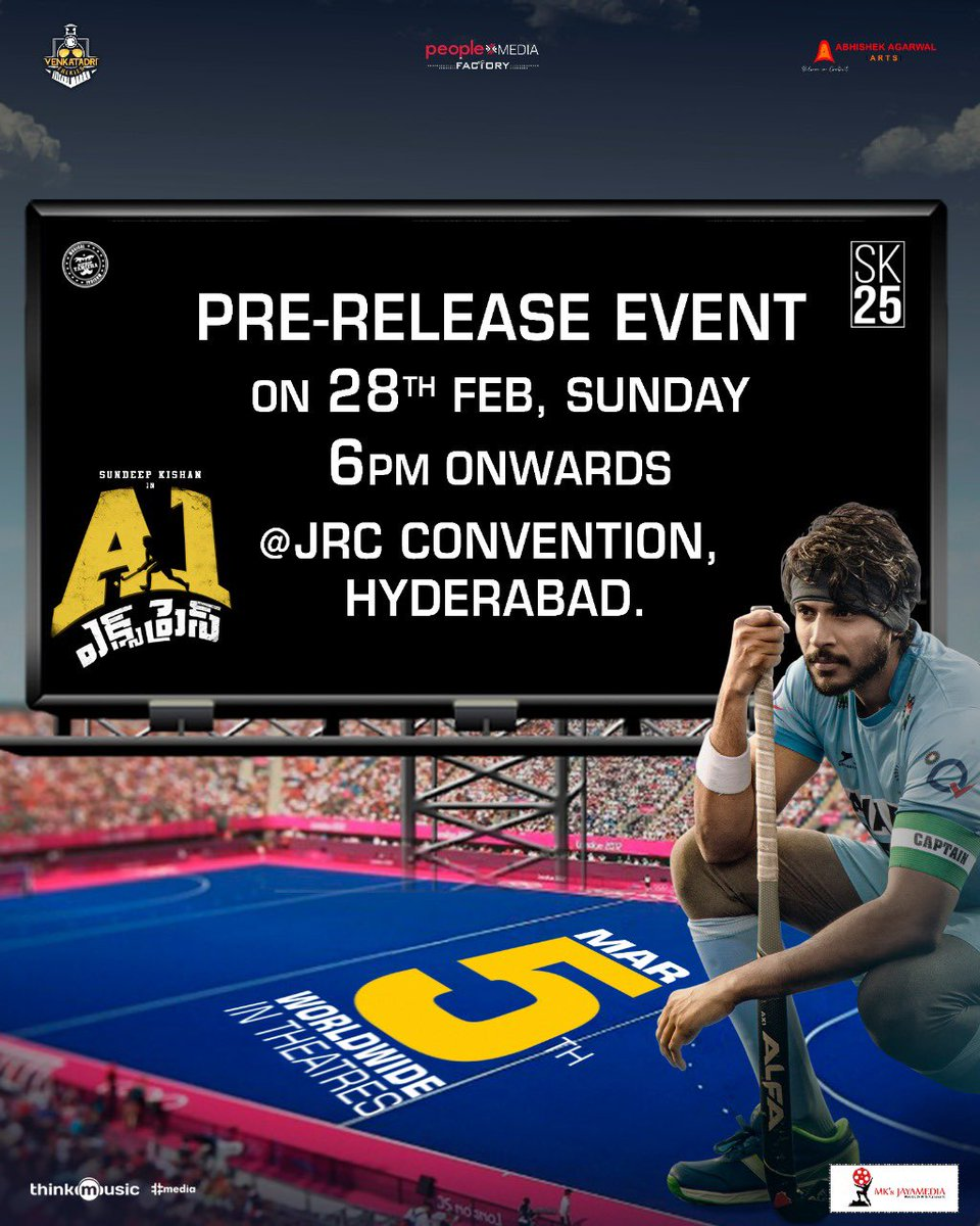 Pre Release event of Hockey Film #A1Express Tomorrow!. #A1ExpressOnMarch5th