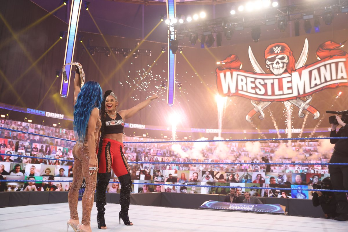 Who is the bEST?   @BiancaBelairWWE has officially challenged @SashaBanksWWE to a match at @WrESTleMania to find out!