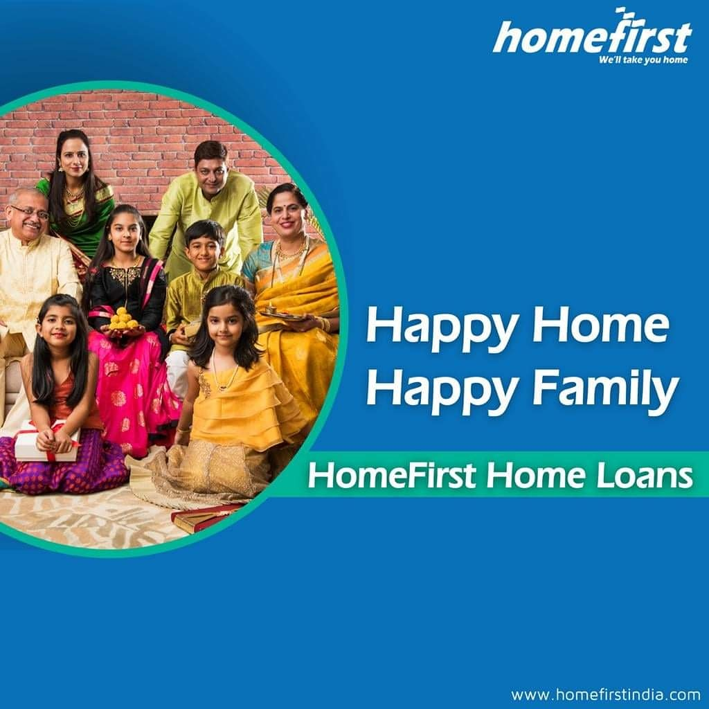 A happy home leads to a #happy #family! Let's make that possible for you & your family with #HomeFirst Home Loans!  #home #homeloan #loan #together #homesweethome #homelove #homeowner #india #mortgage #finance #invest #loans #realtor #property #investment #happyfamily #newhome