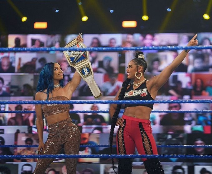 2 pic. Main eventing #Wrestlemania37 #vivalasasha https://t.co/mRwvYo40CA