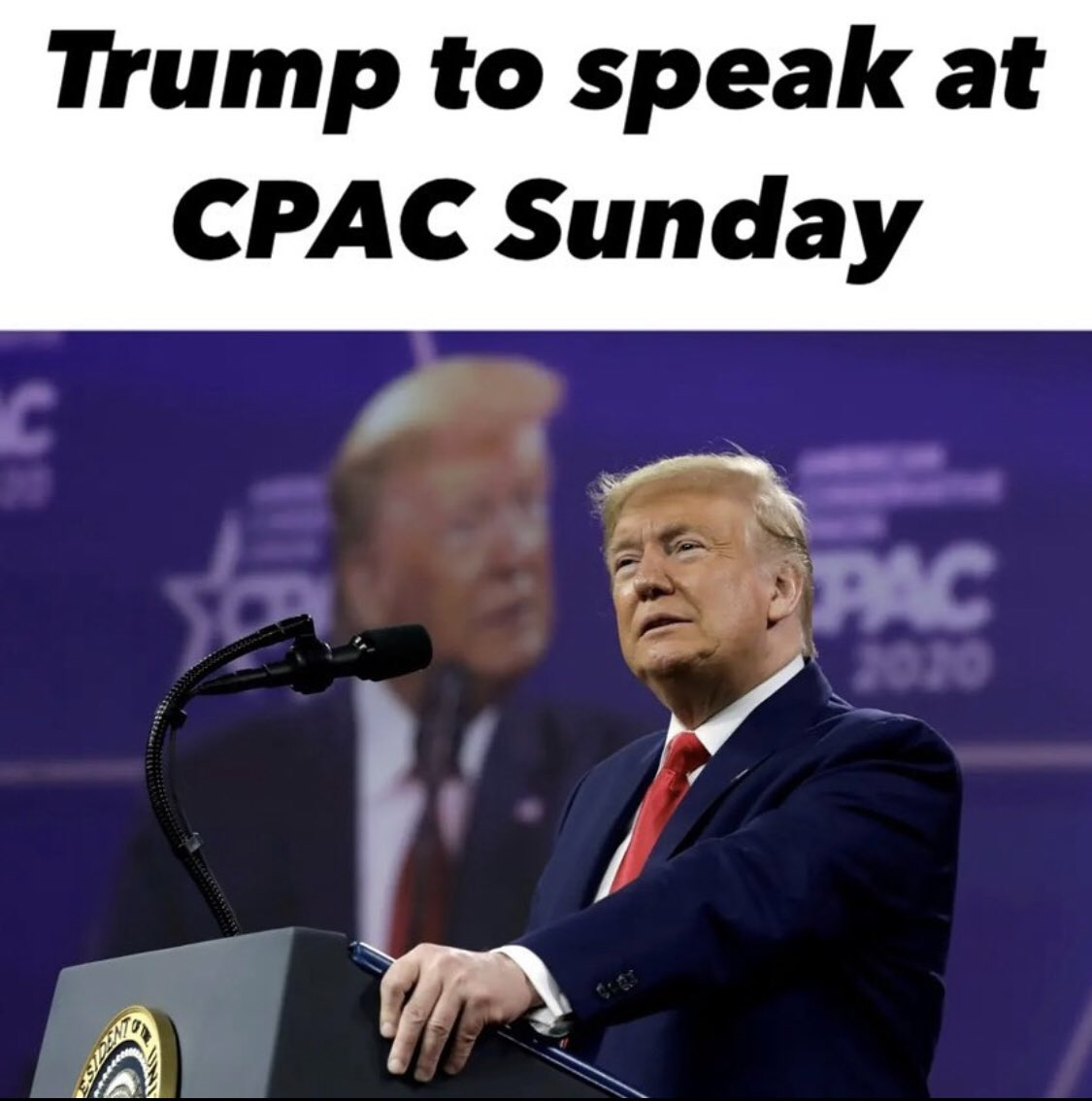 Donald Trump will be speaking at CPAC on Sunday 🇺🇸 #ExposeTheDeepState #DrainTheSwamp #LaunchAmerica #SaveAmerica #CPAC #Trump #MAGA