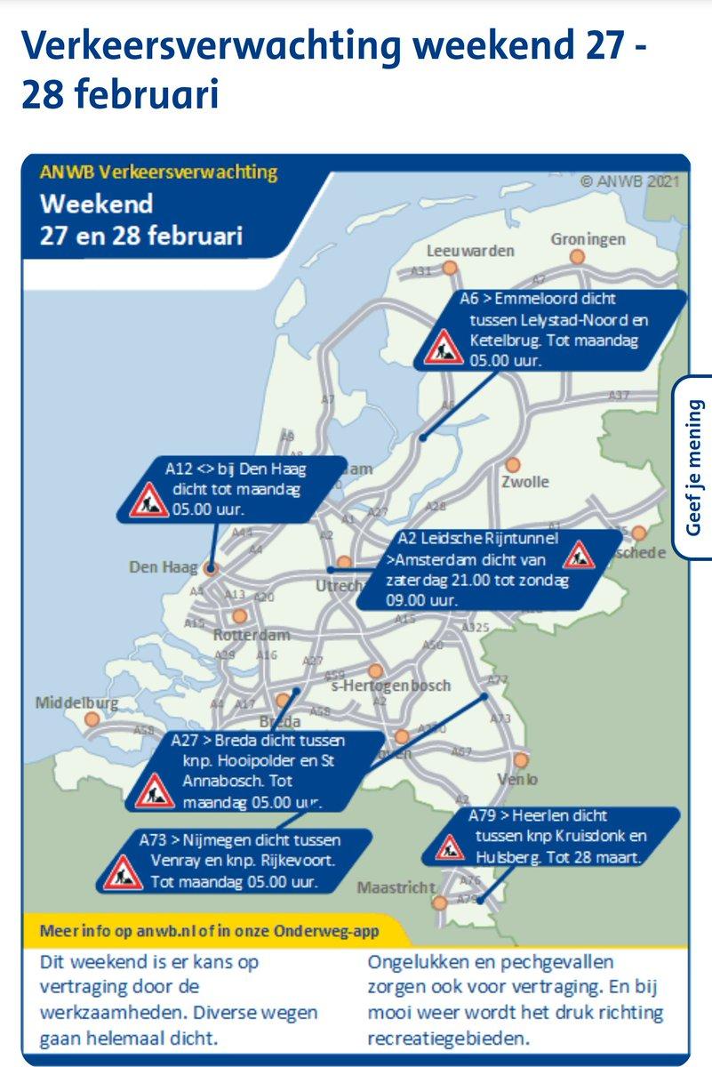 test Twitter Media - Bron ANWB Verkeersinformatie Regio Rotterdam Za 27 feb '21 7:00uur https://t.co/K2bKDpbzko