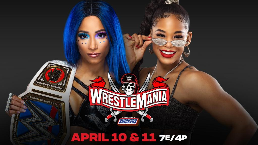 THE 👏🏾 MAIN 👏🏾 EVENT! #SashavsBianca #WrestleMania #wrESTlemania