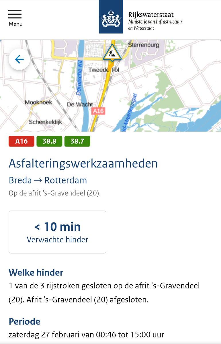 test Twitter Media - Deel 2/3 Bron Rijkswaterstaat Verkeersinformatie Regio Rotterdam Za 27 feb '21 7:10uur https://t.co/THvFf5uMdD