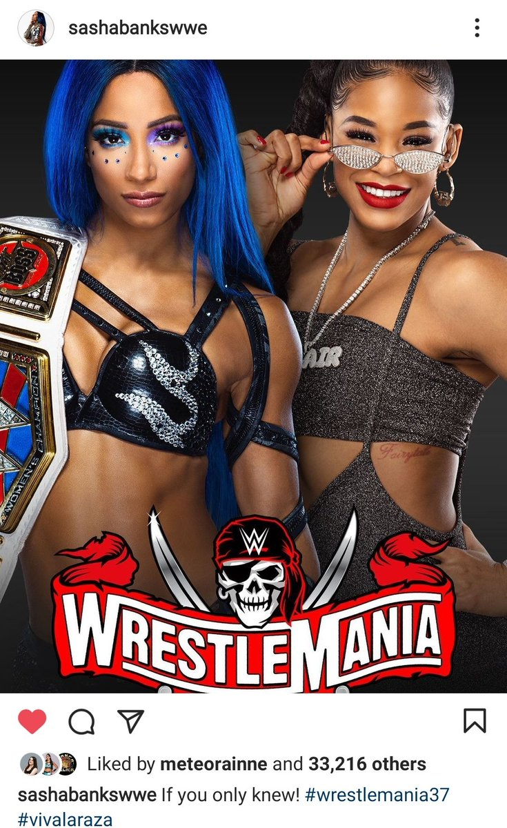 """I feel like Bayley sacrificed a lot so Sasha could have this. #Smackdown #Wrestlemania37   """"If you only knew."""""""