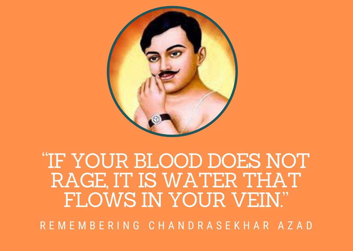 Remembering #ChandraSekharAzad following his path and dream for the betterment of our motherland Bharat.  #Jaibharatma #IndiaTogether #AatmanirbharBharat #unnataaxom  @narendramodi @JPNadda @sarbanandsonwal @himantabiswa @blsanthosh