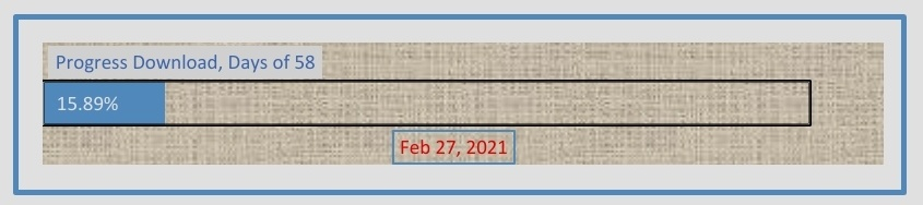 Page 58 of 365 Download 2021, archive then.  15,89% progress complete.  2021 is 15% download complete, bro. its Feb  #NewYear2021 #TheRenaissance #Covid #NewYear #2021goals #diaries #days58 #2021year