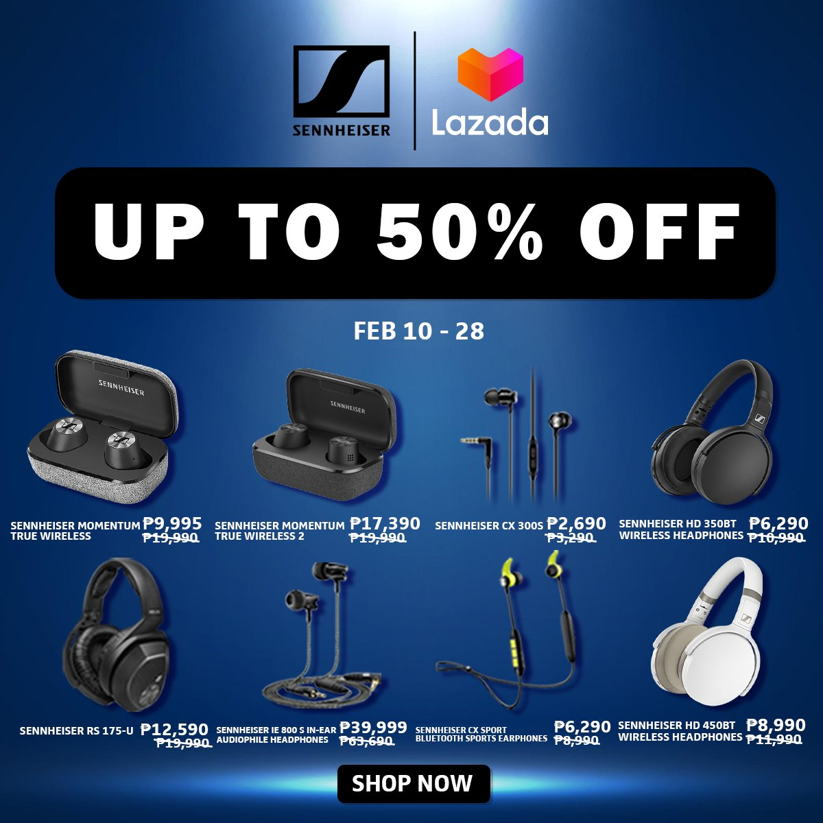 ‼️Sennheiser 3.3 Sale Up To 50% OFF‼️ 🛒SHOP NOW!➡  🛒SHOP NOW!➡   🚚Cash on Delivery  **Price is subject to change without prior notice  #LazadaFinds #LazadaPH #LazadaxKathryn #LazadaxLMH  #payday #NasaLazadaYan #shoponline