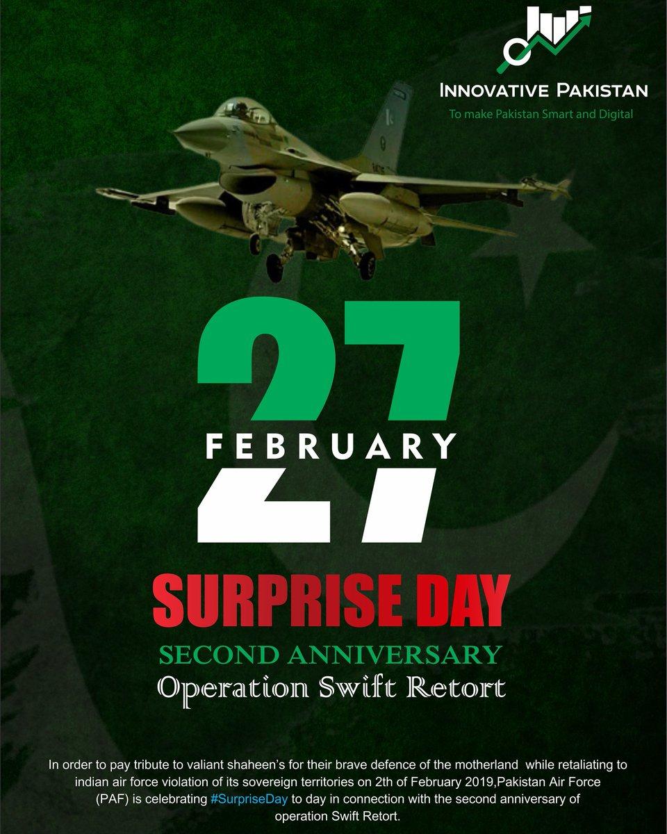 #Pakistan #supriseday #27FebSurpriseDay #AirStrike #OperationSwiftRetort #PakAirForce #PakistanArmy #PakistanNavy #kashmir #jammukashmir #pakistanourpride  #PakistanZindabad #LongLivePakForces #PakistanArmedForces #secondanniversary #innovativepakistan #innovation #startup