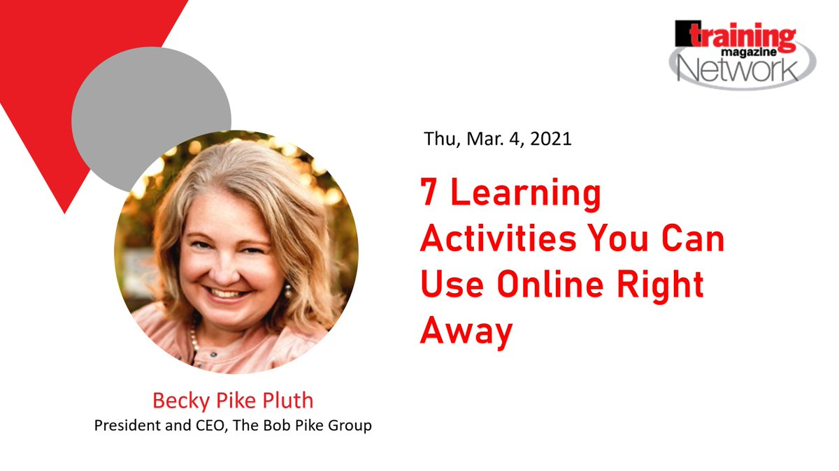 7 #Learning Activities You Can Use Online Right Away @TheBobPikeGroup,  #training #eLearning #TrainingAndDevelopment #LearningandDevelopment #OnlineTraining