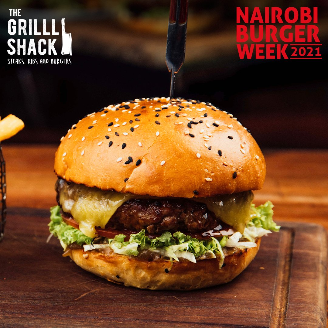 Enjoy twice the crunch this #BurgerWeek. Spend Ksh1250 at Grill Shack and get 2 touring patties with 2 sides of fries!! Offer is sit-in only valid till March 7th, 2021!!  #BurgerWeek #FeastForYourSenses. https://t.co/7QqPjszGaD