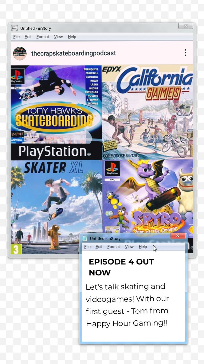 Episode 4 of the Crap Skateboarding Podcast is out now! We talk videogames! #skateboarding #podcast