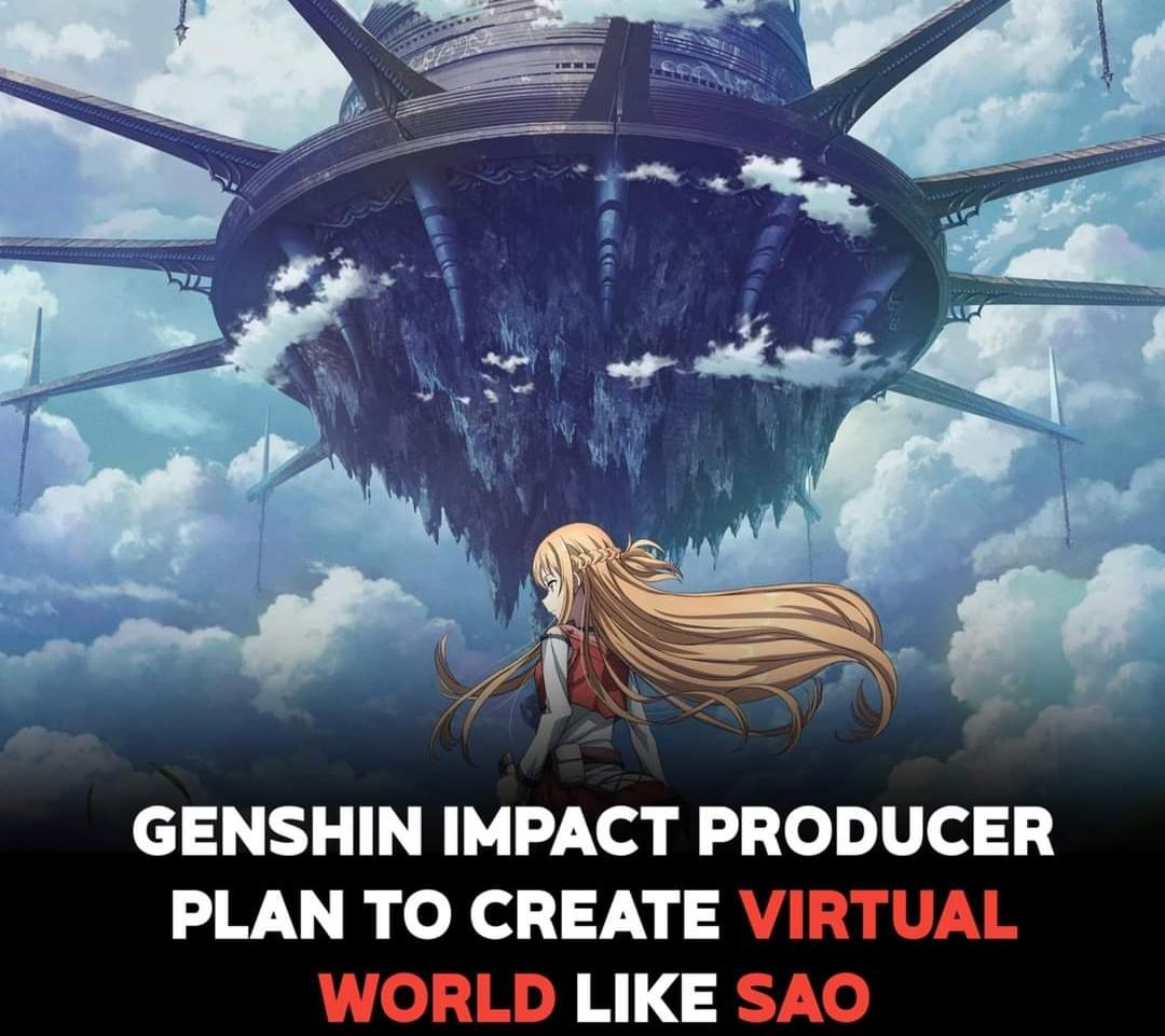 Genshin Impact Producer Plan To Create Virtual World Like Sword Art Online!  Cai Haoyu, President of miHoYo, recently gave a presentation to SJTU-SV covering miHoYo's growth and future plans. One big one, a complete virtual world in 2030