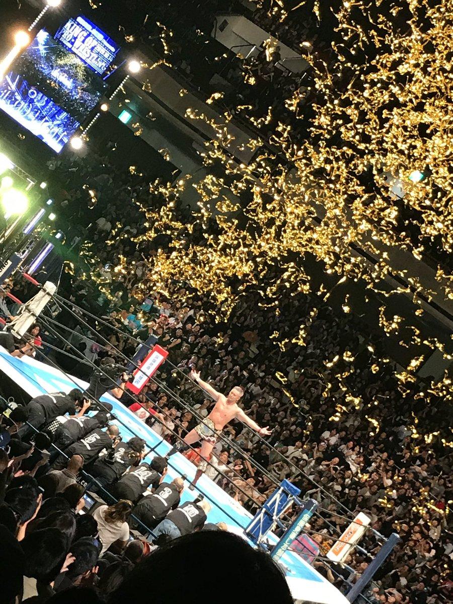 久しぶりのレインメーカーはしびれる NJC優勝してIWGPをまた巻いてほしい #njcattack #njpw