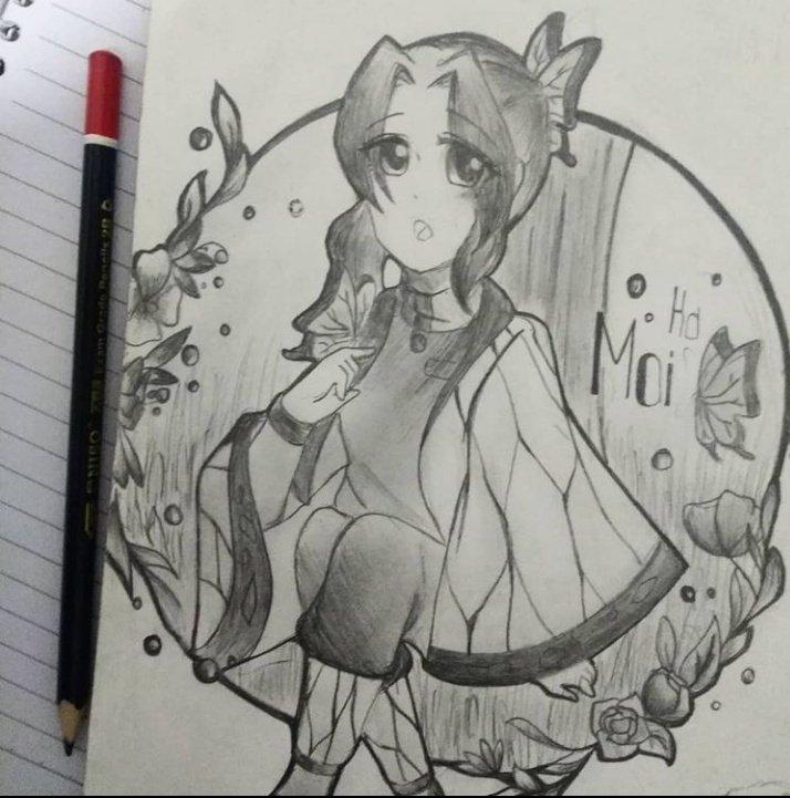 Kd : Art Trade . . ✨I do some art trade with @maisaraki on Instagram. So plz do check my Thailand friend as well. Her colouring skills always make me amazed! . . #art #sketch #shinobu #demonslayer #demonslayerkimetsunoyoiba #kd_sketch #animegirl #arttrade