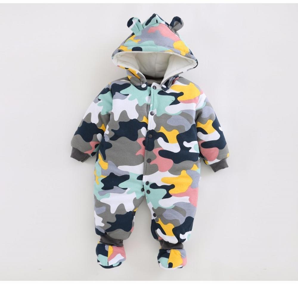 #follow4follow #art Baby's Warm Hooded Jumpsuit