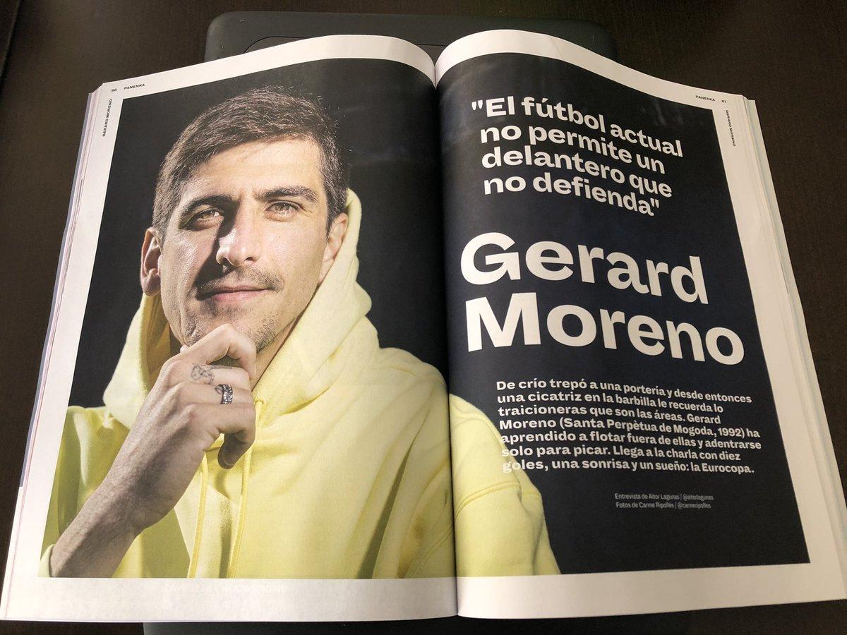 """Gerard Moreno: """"Puedes mejorar el golpeo, la precisión... Pero estar en el sitio adecuado en el momento justo, eso es un don"""".  Entrevista de @aitorlagunas en @RevistaPanenka. https://t.co/62rVj5DLtx"""