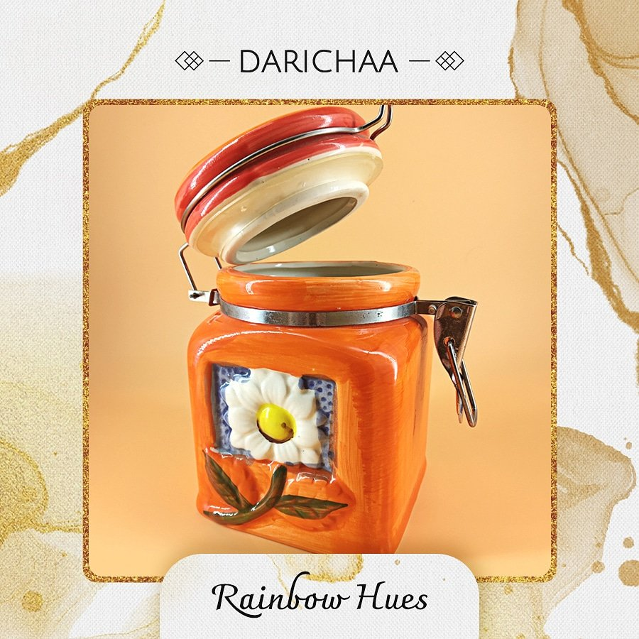 So where is this piece of color pop - Rainbow Hues Jar (Orange) going in your room? Tag someone who would love this.  #darichaa #homedecor #interiordesign #home #interior #decor #design #homedesign #handmade #homesweethome #art #decoration #furniture #interiors #architecture