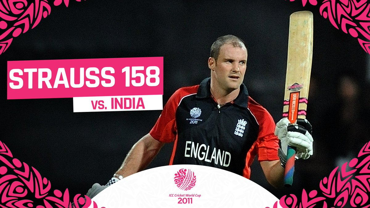 🏏 158 runs off 145 balls 🔥 18 fours and a six  Andrew Strauss slammed his career-best ODI score against India in the 2011 ICC Men's @cricketworldcup!  #CWC11Rewind