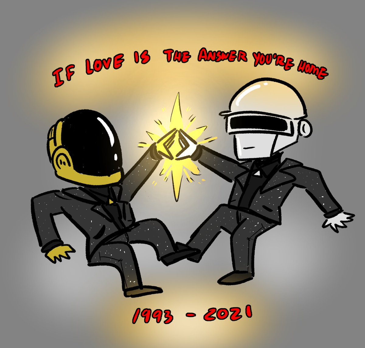 Thanks for the years you two. #DaftPunk #DaftPunkForever