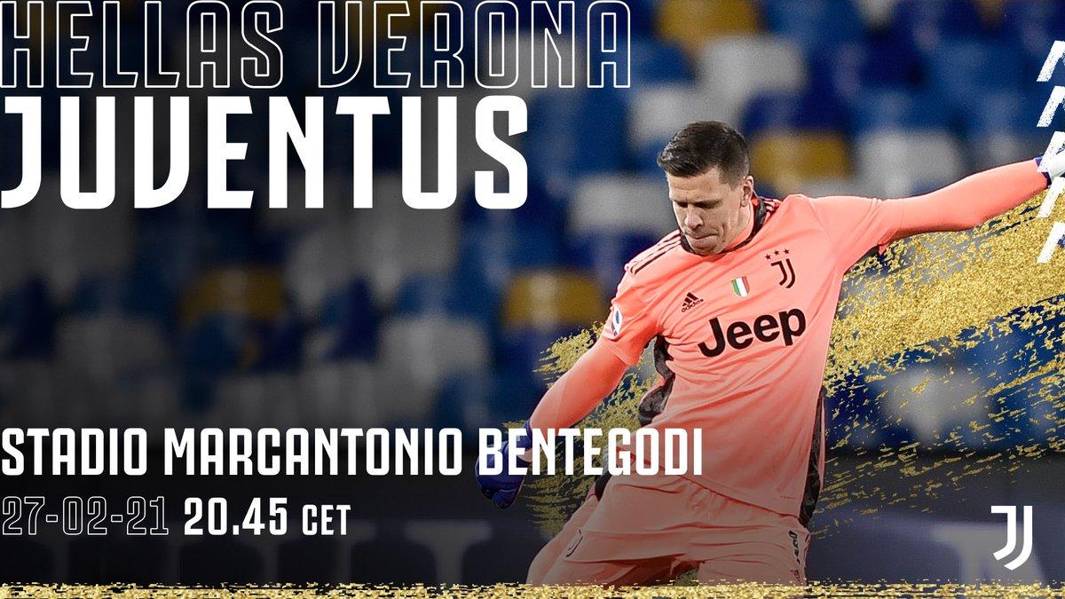 Pronti a combattere 💪 🇮🇹 @SerieA 🆚 @HellasVeronaFC 🏟 Stadio Marcantonio Bentegodi  ⏰ 20:45 CET 📲 #VeronaJuve
