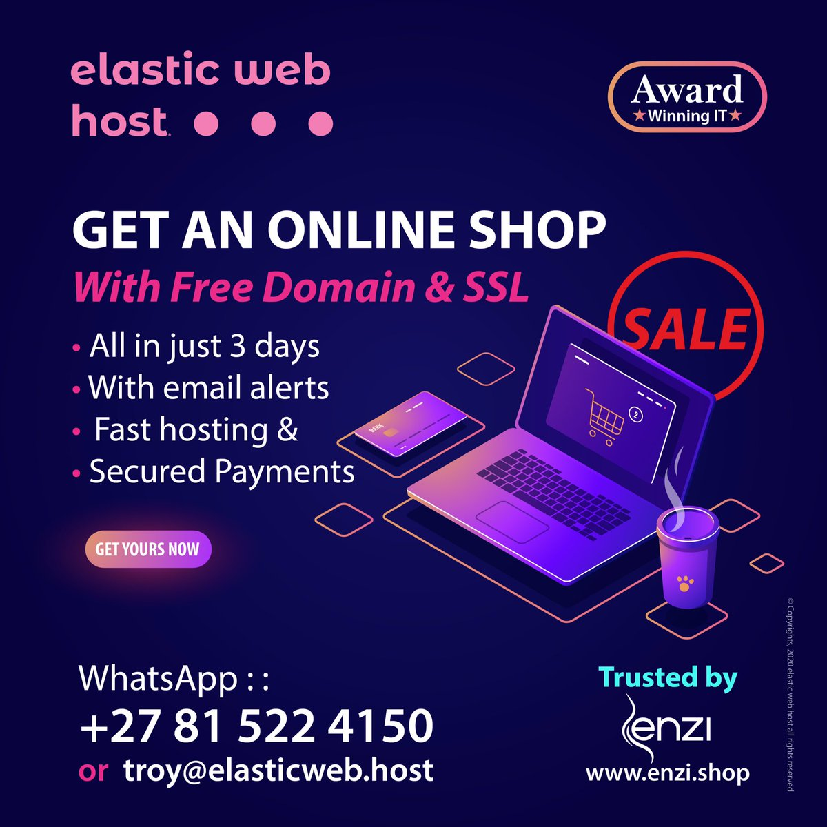 🌕Get an Online Shop for half the Price  ✳️ONLINE Shop with: ✅Free SSL ✅Free Domain ✅Unlimited Emails ✅ & Fast Hosting  ▶ Example:   ☎️Let's chat:  __ #DJSBU euphonic Themba #sundayvibes WhatsApp iphone #KonkheStoreGrandOpening