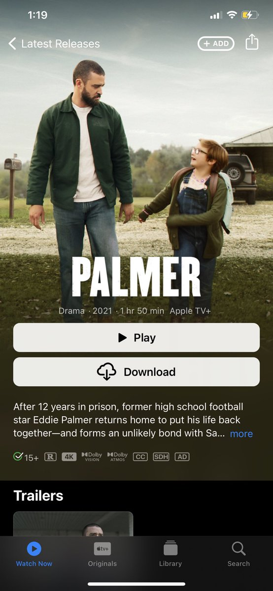 I just finished watching the movie #Palmer ... I CANNOT STOP CRYING 😭😭😭😭 it's so good. Y'all need to watch it. 🥺♥️
